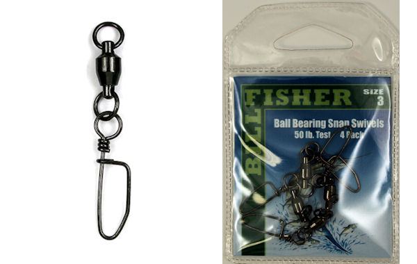 Billfisher 2-Ring Ball Bearing Snap Swivels BBSS Ball Bearing Snap Swivels, Billfisher Swivels, Billfisher Snap Swivels
