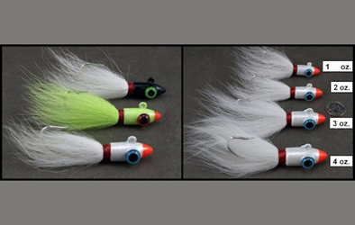 Bullet Head Bucktails - 1 ounce