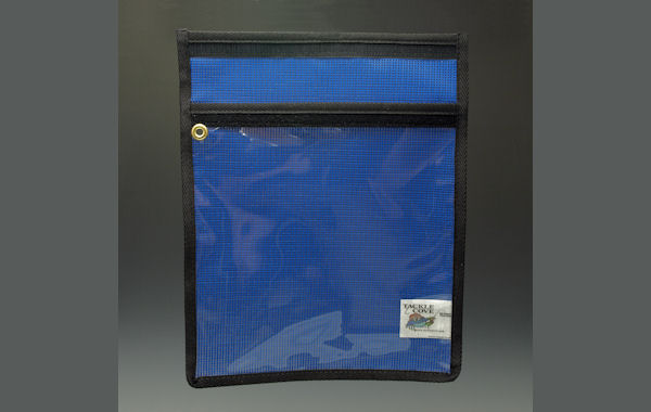 "Vinyl and Mesh Lure Bag 12"" x 12"" Lure Storage Bags, Striper Lures, Rockfish Lures, Trolling Lure Storage"