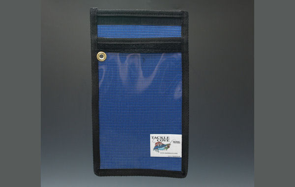 "Vinyl and Mesh Lure Bag 7"" x 10"" Lure Storage, Striper Lures, Rockfish Lures, Trolling Lure Storage"