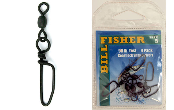 Billfisher Coastlock Snap Swivels BCSS Coastlock Snap Swivels, Billfisher Coastlock Swivels, Rockfish Trolling Swivels, Striper Swivels