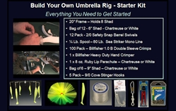 'Build Your Own' Umbrella Rig Starter Kit $10 Off Umbrella Rigs, Striper Umbrella Rigs, Rockfish Lures