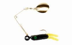 Johnson Beetle Spin - Gold Blade 1/4 oz.  Perch Lures, Spinner Baits, Chesapeake Bay Spinner Baits