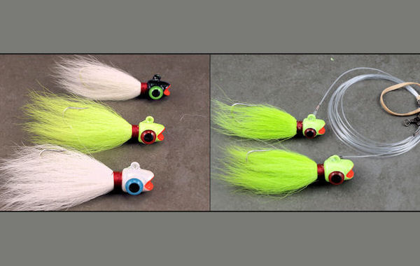 Ruby Lip Bucktail Tandem Rigs Bucktail Trolling, Rockfish Trolling, Bucktails, Striper Trolling