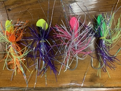 Squid Jigheads with Skirt - Buy 3 Packs, Get 1 FREE! Cobia Jigs, jigheads with Skirt, cobia lures, red drum lures, Coach Jigheads