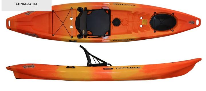 Native Watercraft Stingray 11.5 ONLY 1 In Stock! Native Water Stingray 11.5, Stingray 11.5, Stingray fishing kayak